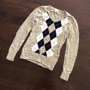 Merona argyle sweater size XS